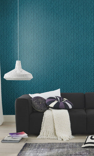 geometric teens bedroom wallpaper