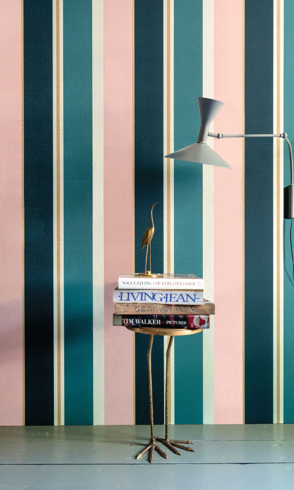 bold stripe teens bedroom wallpaper
