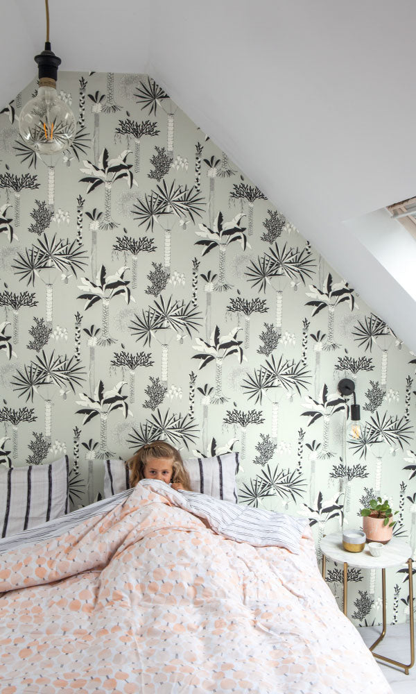botanical kids bedroom wallpaper ideas