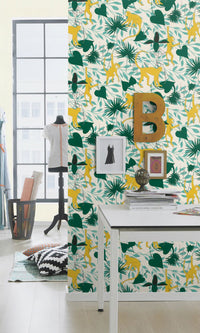 botanical teens bedroom wallpaper ideas