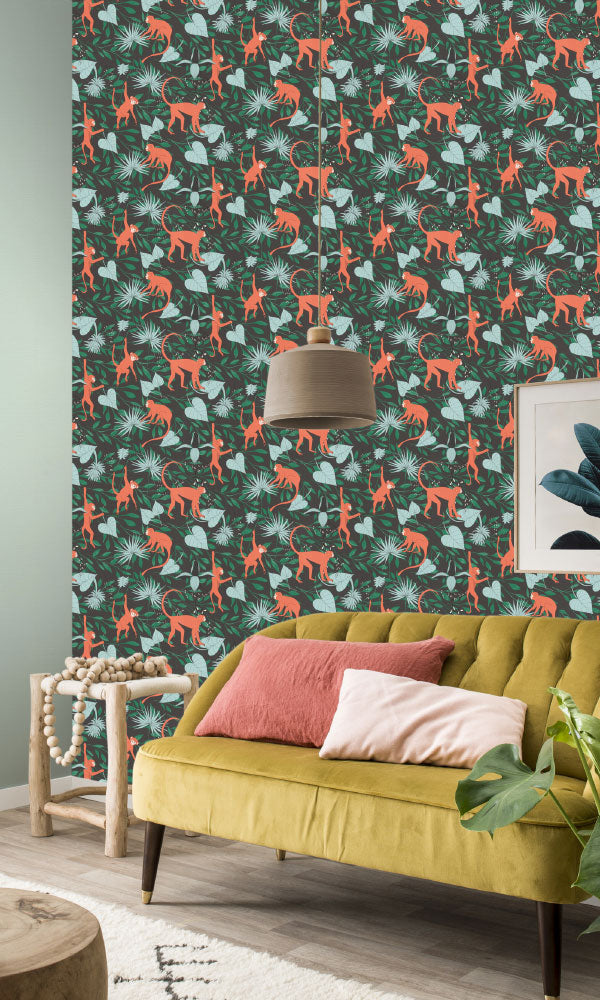 botanical kids bedroom wallpaper