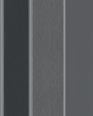 Traditional Simplistic Thick Striped Black And Grey Wallpaper R3936