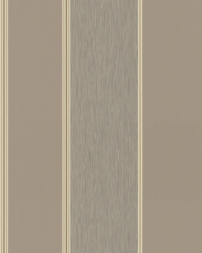 Traditional Simplistic Thick Striped Tan and Taupe Wallpaper R3937