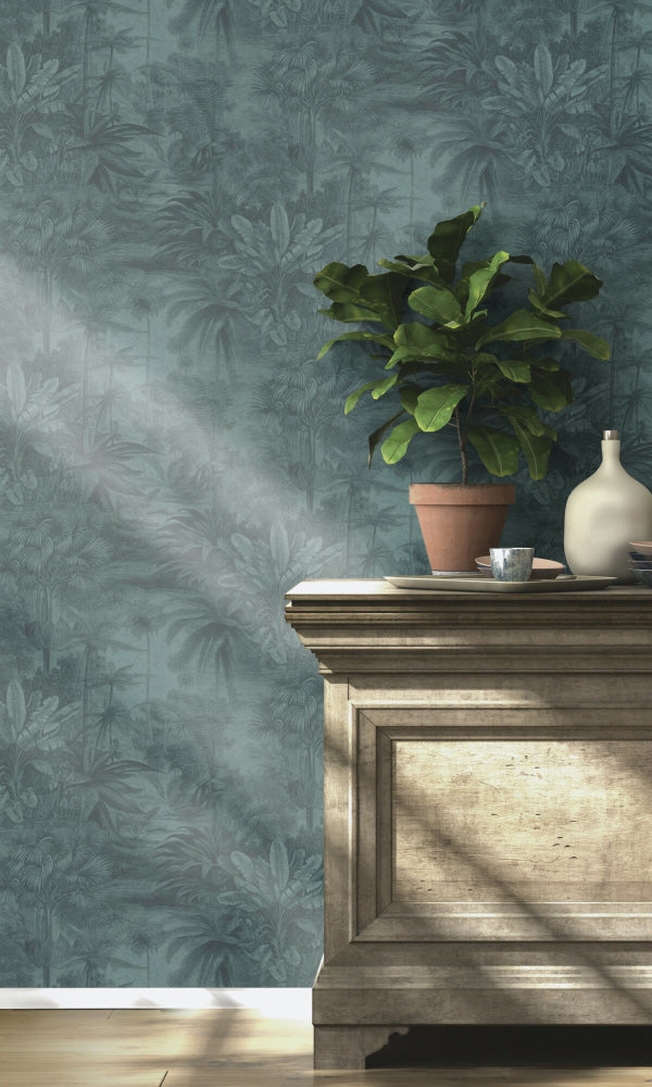 botanical foyer wallpaper
