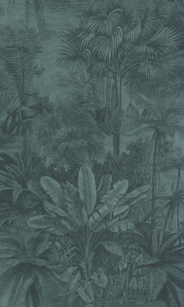 botanical tropical print wallpaper