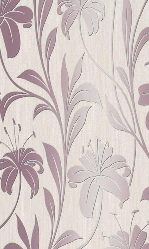 bold floral wallpaper,Pink Floral Metallic Wallpaper R3977 | Contemporary Home Interior