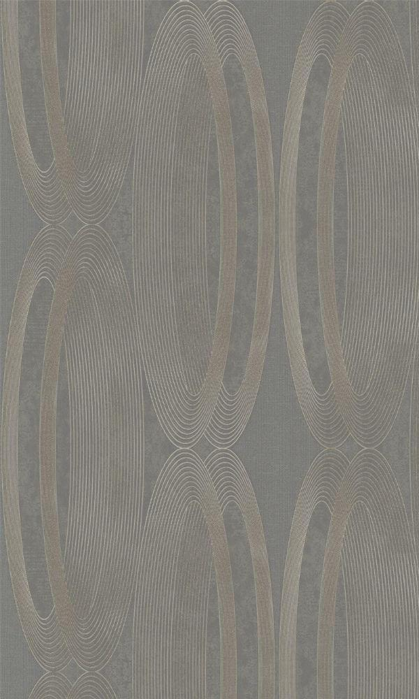 Metallic Grey Wheeled Wallpaper R3965 | Modern Home Interior