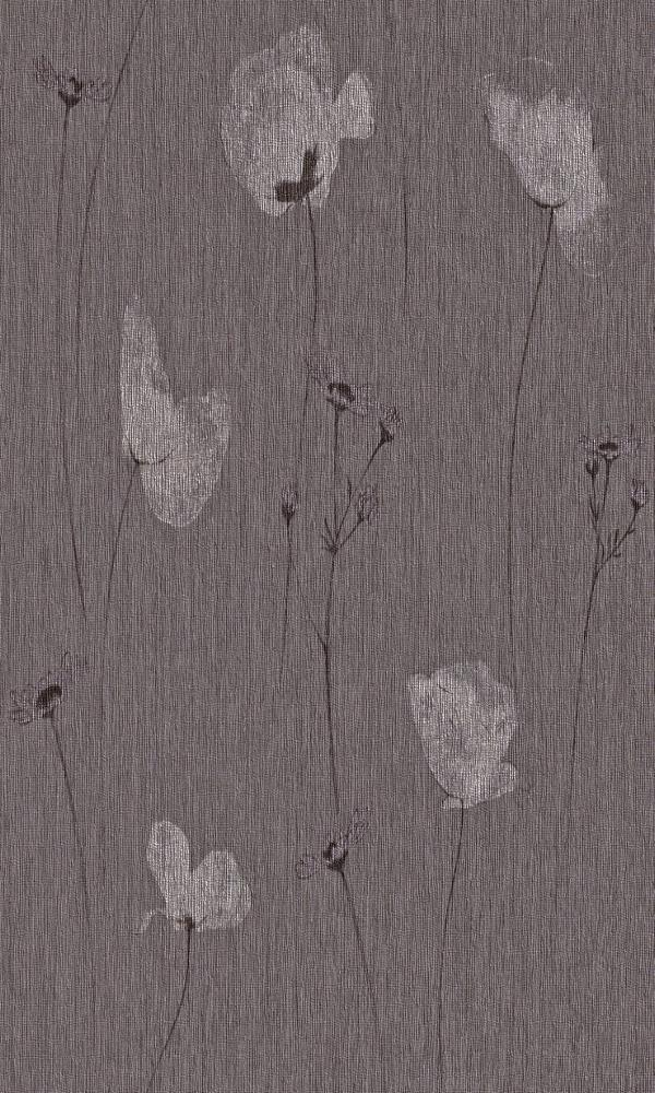 Transluscent Floral Purple Perennial Wallpaper R4378