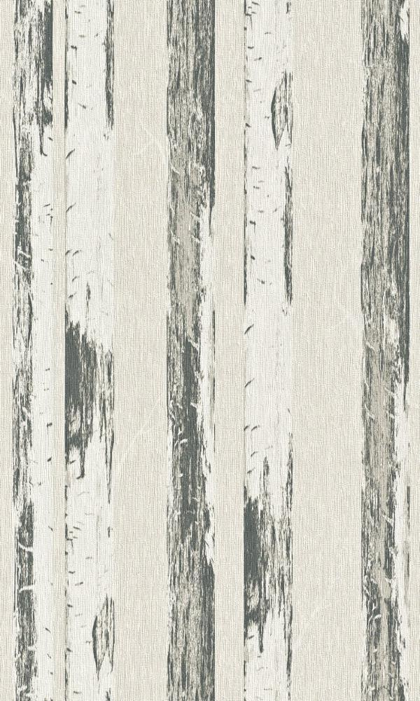Contemporary Metallic Pearl Paper Birch Wallpaper R4363