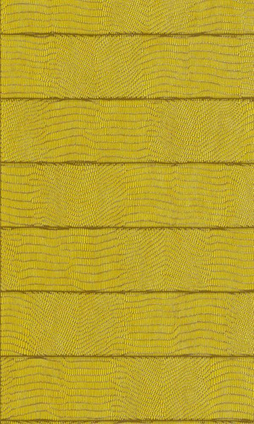 Contemporary Faux Leather Chartreuse Vibrant Crocodile Wallpaper R3674