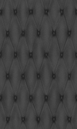 Black Faux Leather Wallpaper R3685 | Contemporary Wall Covering, textured, faux effect