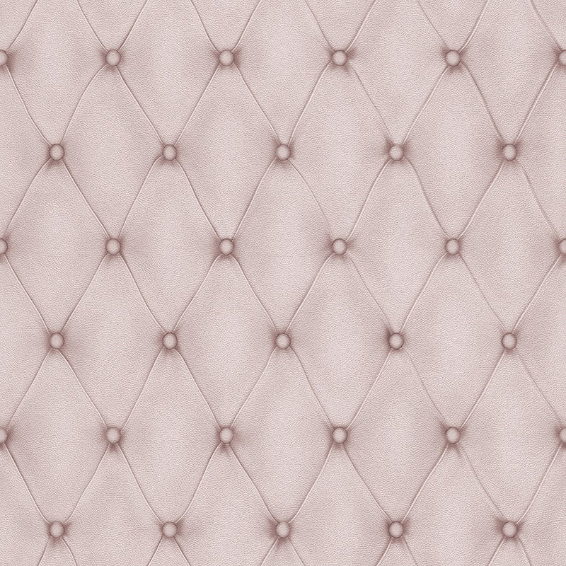 Contemporary Faux Leather Lilac Tufted Wallpaper R3684