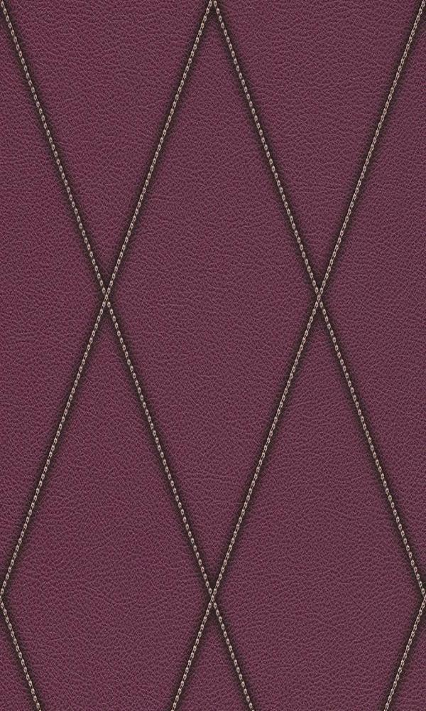 Lavender Faux Leather Diamond Wallpaper R3690 | Modern Home Interior