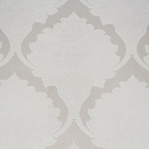 Ivory Damask Metallic Wallpaper R3551 | Traditional Home Interior