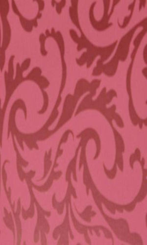 Burgundy Swirling Leaf Wallpaper R3566 | Traditional Home Interior
