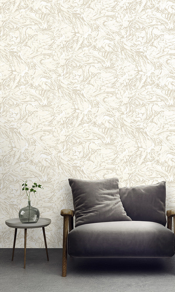 textured ink wallpaper, Cream Textured Ink Abstract Wallpaper R6126 | Modern Home Interior