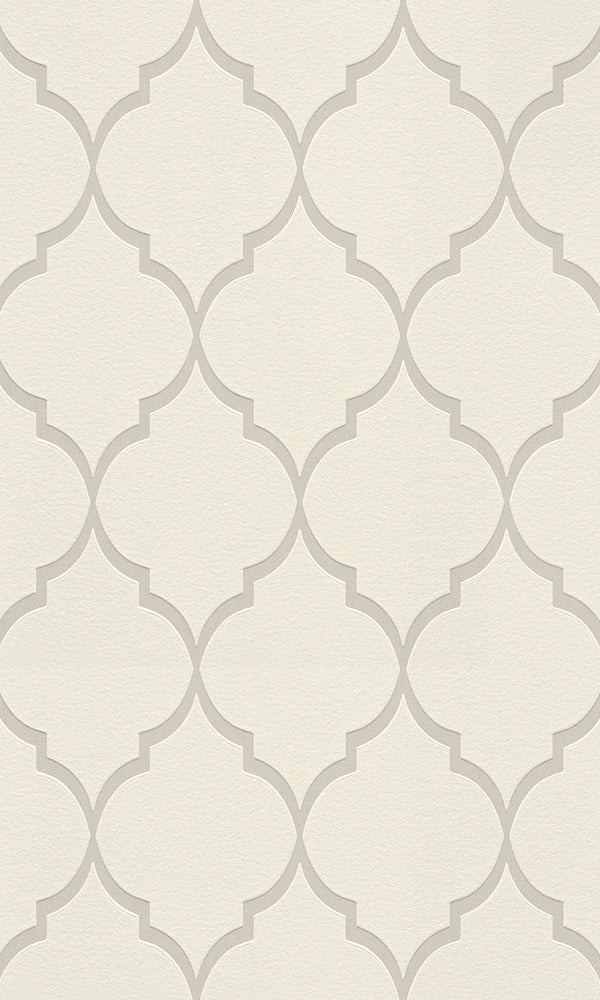 White Simple Lattice Wallpaper R6203