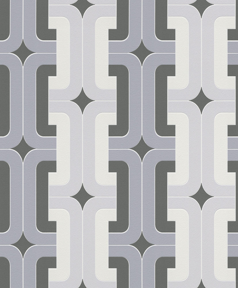 Gray Chains Retro Wallpaper R5729 | Traditional Home Wall Covering