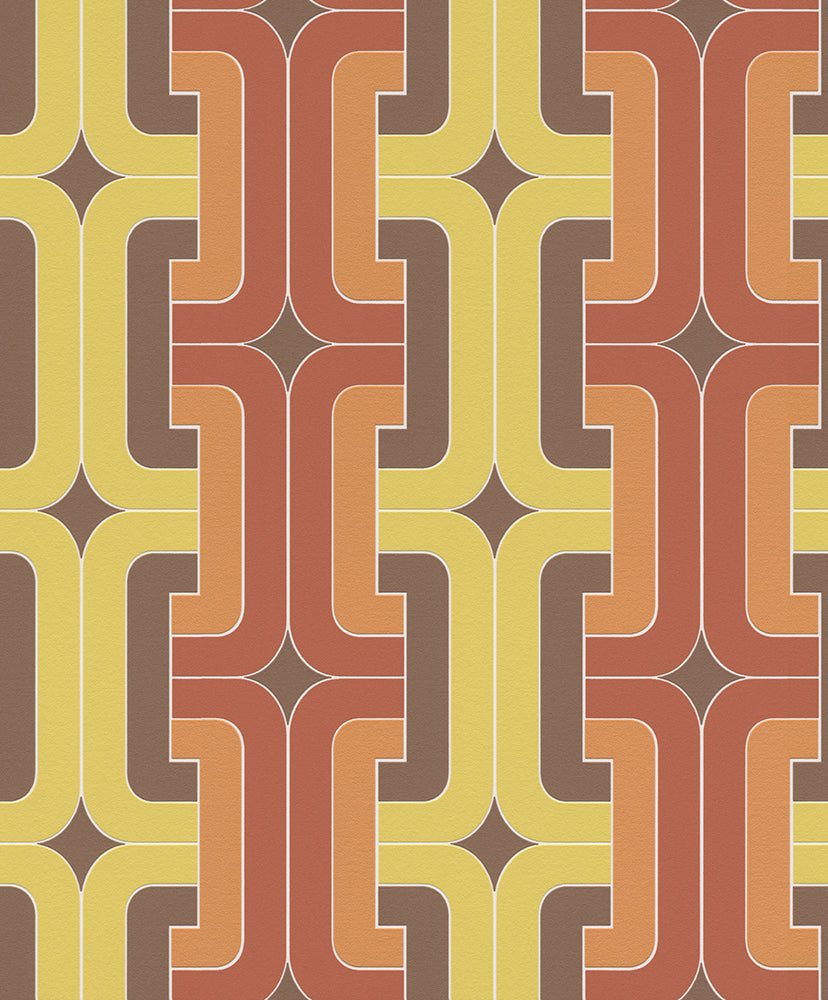Retro Interlocking Chains Wallpaper R5730 | Traditional Home Wall Covering