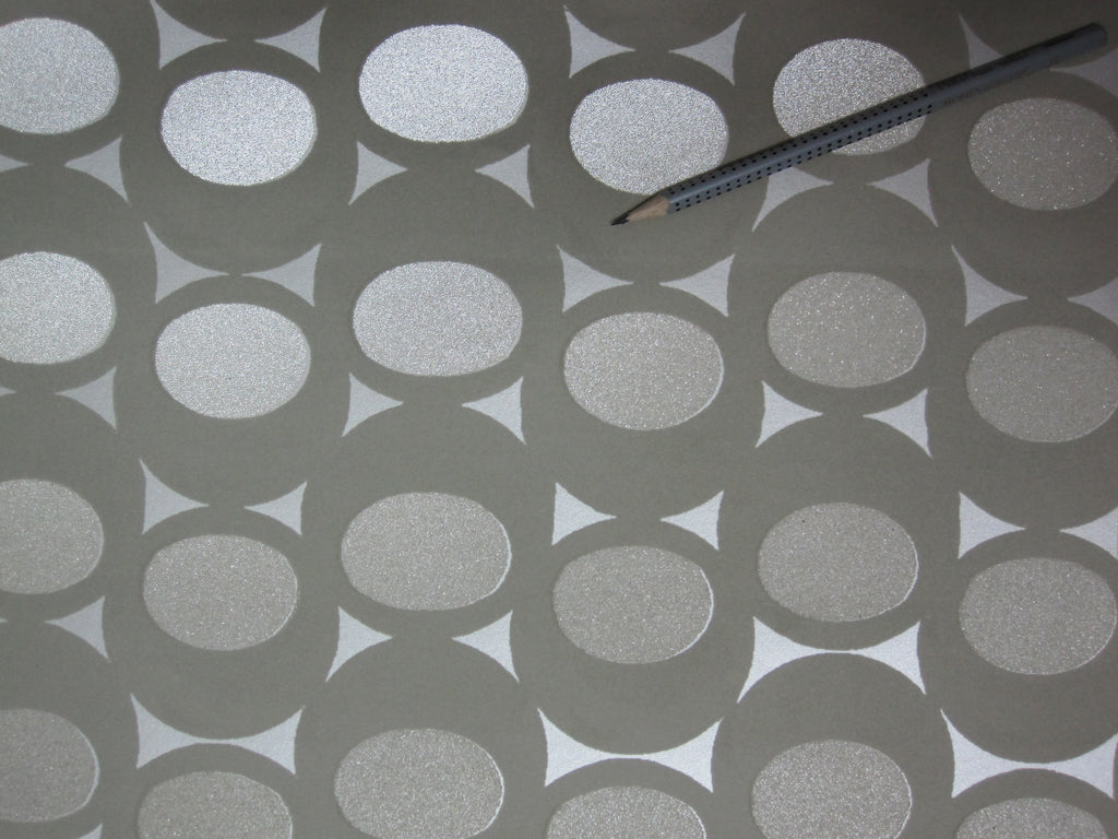 Black & Silver Lustrous Wallpaper R3585 . Geometric wallpaper. Grey wallpaper