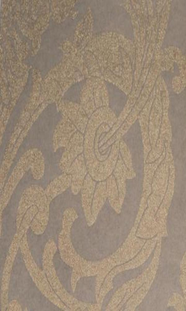 Bronze Ornamental Damask Wallpaper R3533