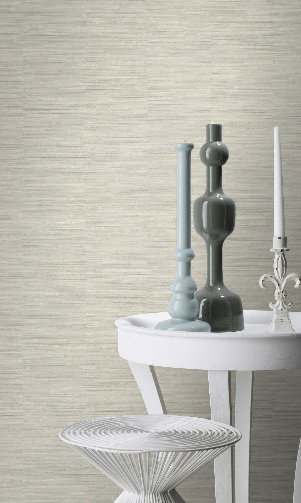faux metallic grasscloth living room wallpaper