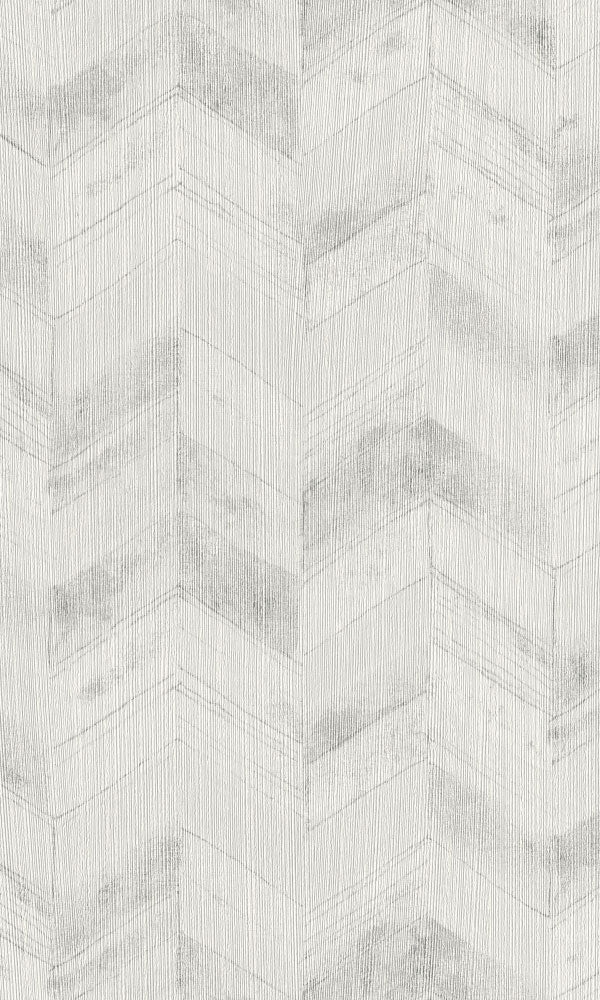 weathered metallic herringbone geometric wallpaper