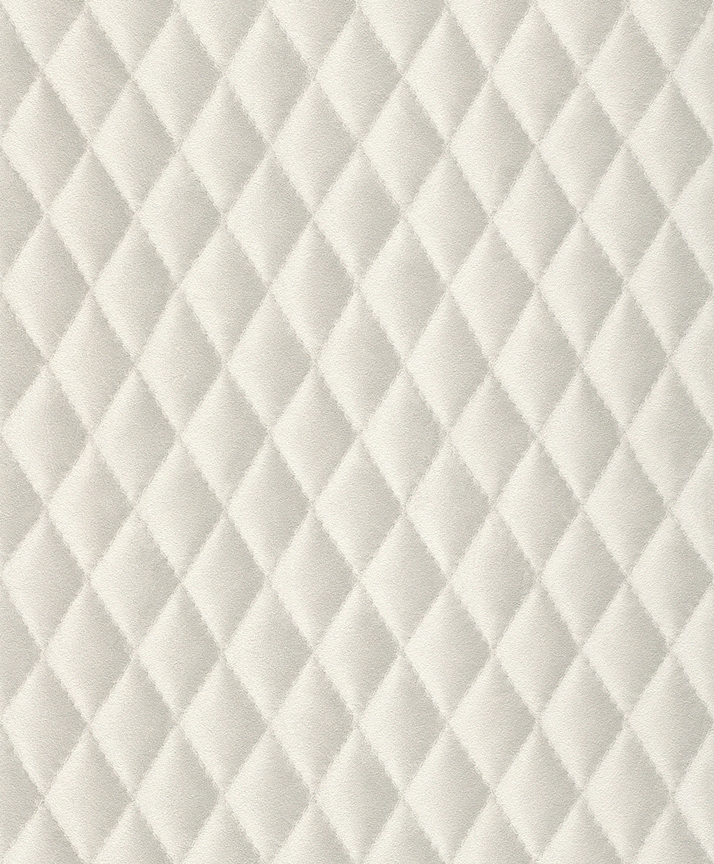 Faux Stitched White Diamond Cushion Wallpaper R4385