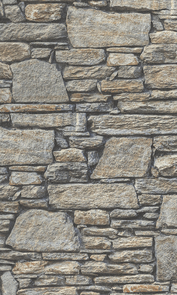 realistic faux stone wallpaper