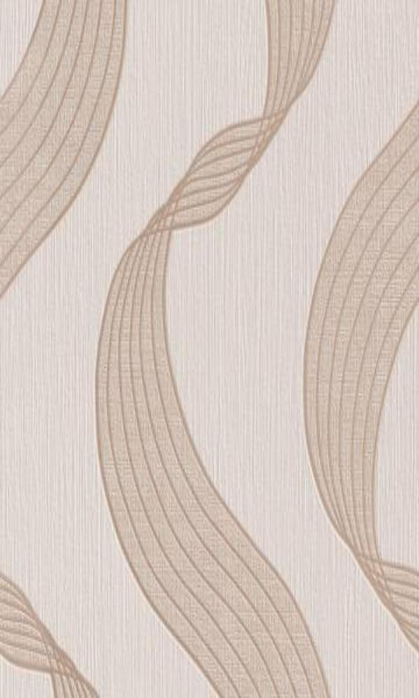 Beige Ribbons Modern Abstract Wallpaper R2942