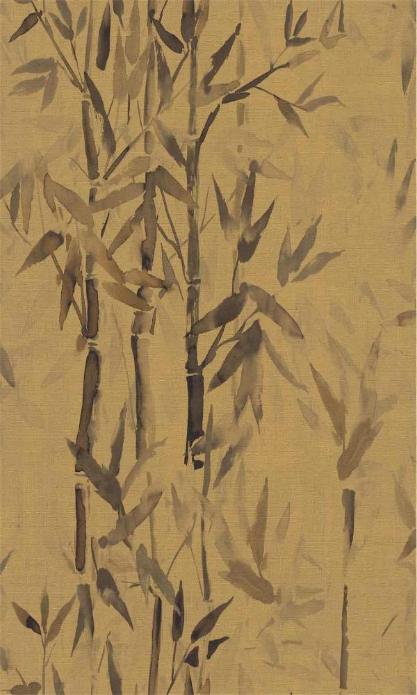 Brown Asian Inspiration Botanical Wallpaper R5493