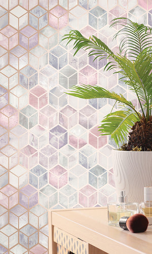 3 dimensional cubes geometric wallpaper
