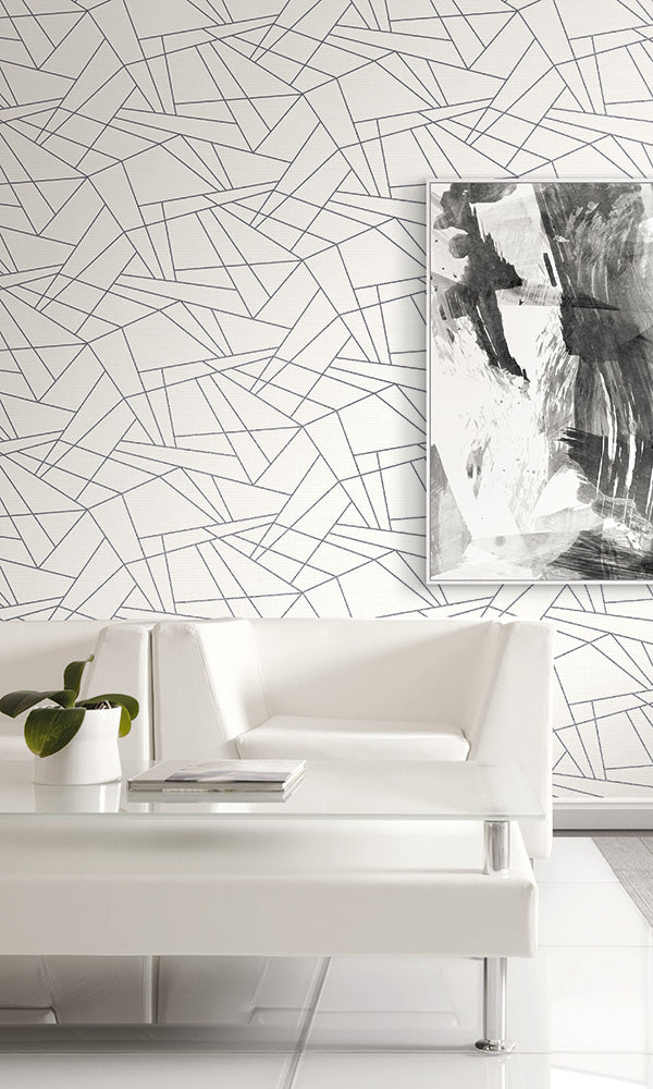 sharp linework geometric wallpaper