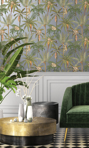 tropical metallic wallpaper