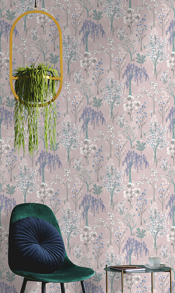 bold floral whimsical botanicals wallpaper