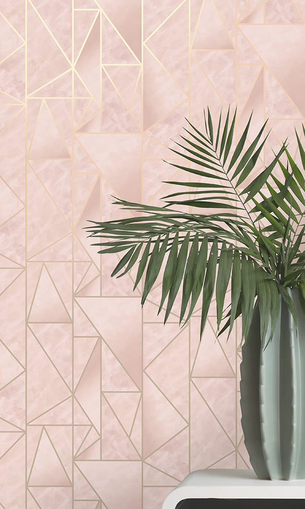scandinavian geometric wallpaper