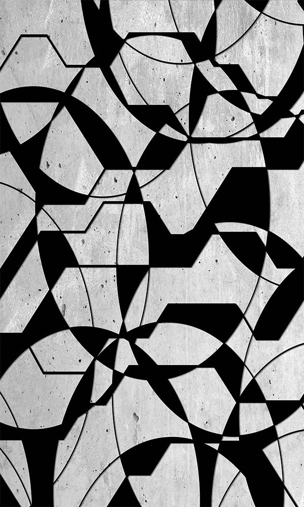 concrete geometric overlay wallpaper