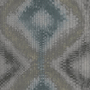 Dark Blue Pixelated Geometric Wallpaper R2753