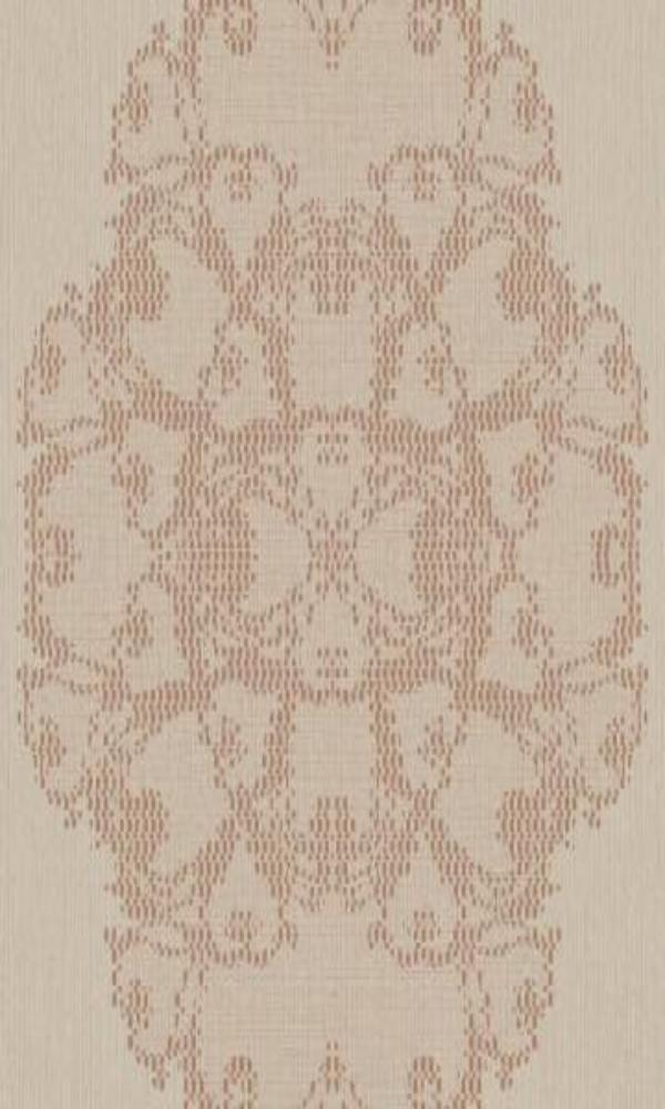 Bronze Pixelated Medallion Wallpaper R3786 | Classic Home Interior