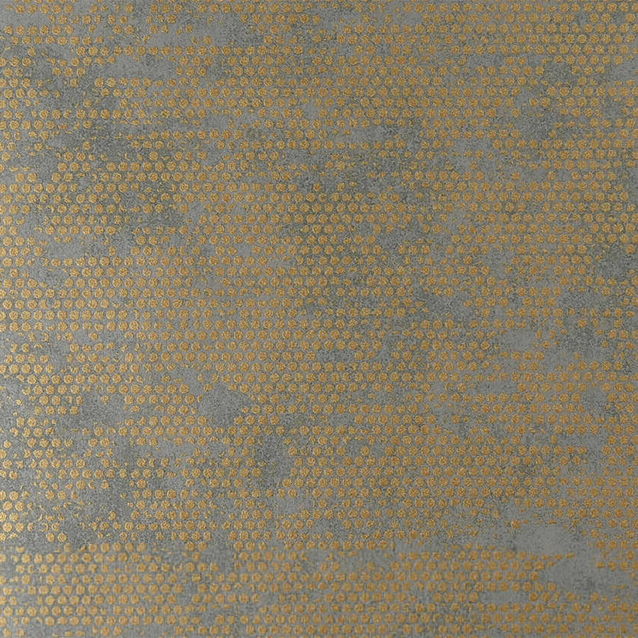 Chic Glamorous Rustic Metallic Orange Spotted Grey Wallpaper R3806