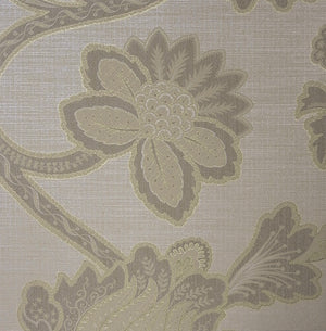 Grey Jubilee Floral Wallpaper R3077