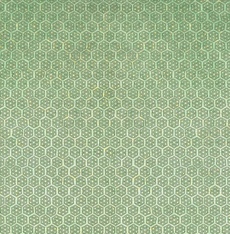 Lime Green Floral Geometric Wallpaper R3100