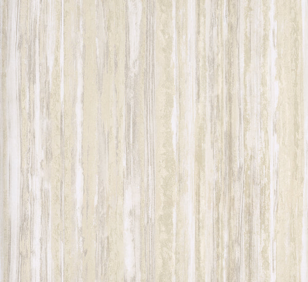 Faux Finish Stripes Simplistic Painterly Cabin Wall White and Grey R4451