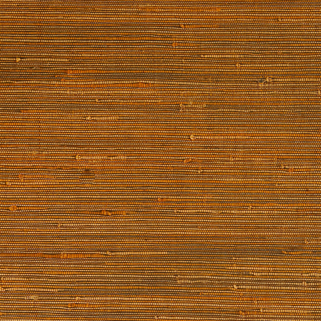 Flex Moss Brown Grass-cloth Woven Wallpaper R1970