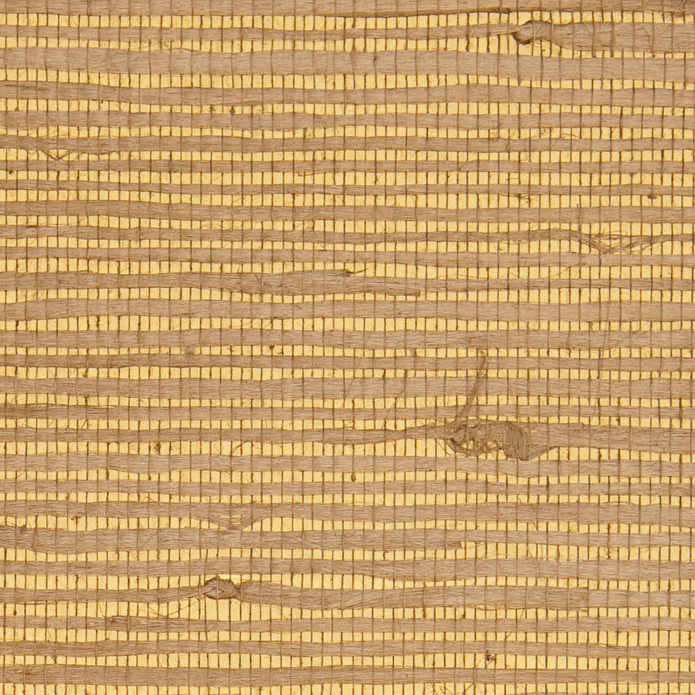 Reflection Brown and Yellow Metallic Grasscloth Wallpaper R4646