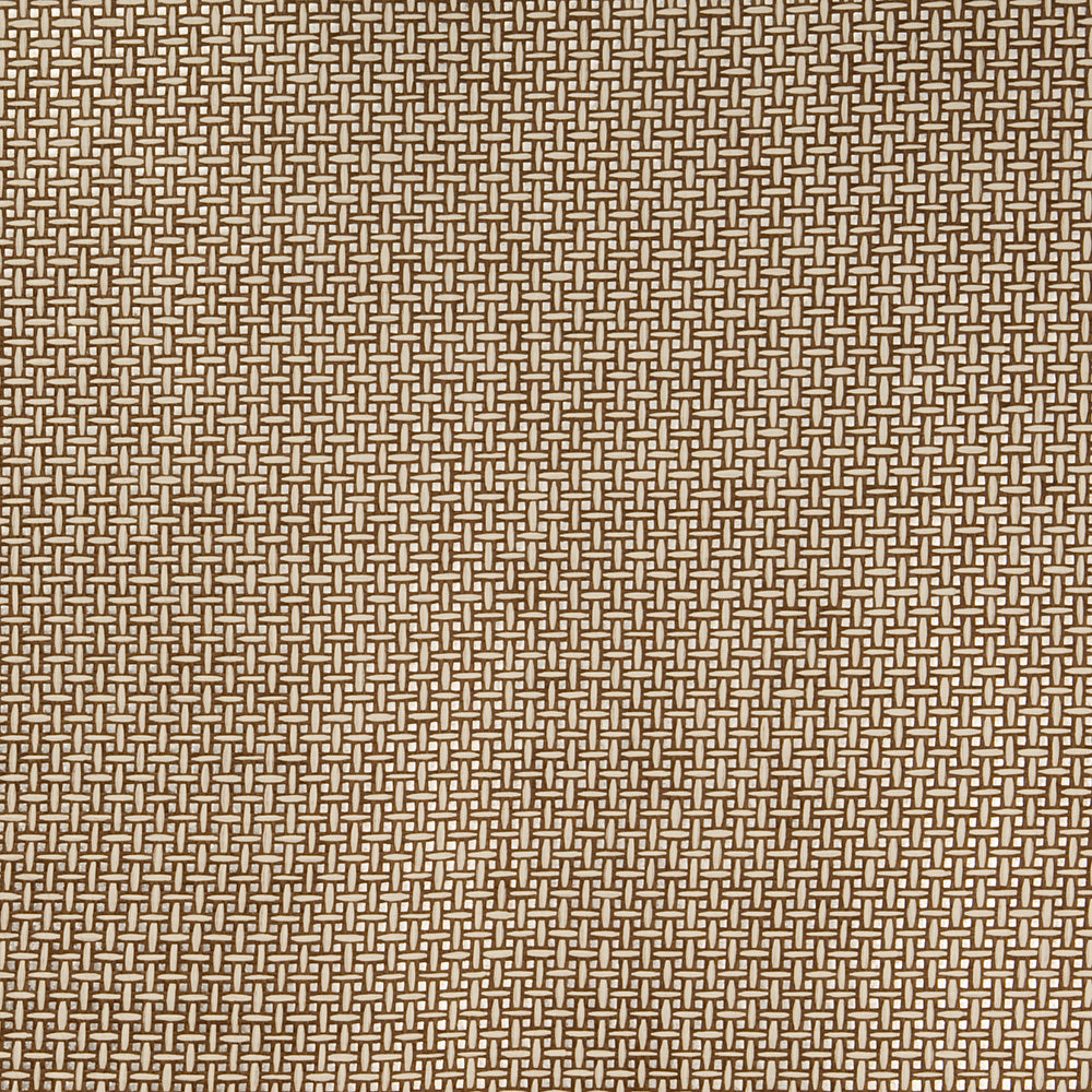 Mirrored Basket Metallic Cream and Brown Grasscloth Wallpaper R4600