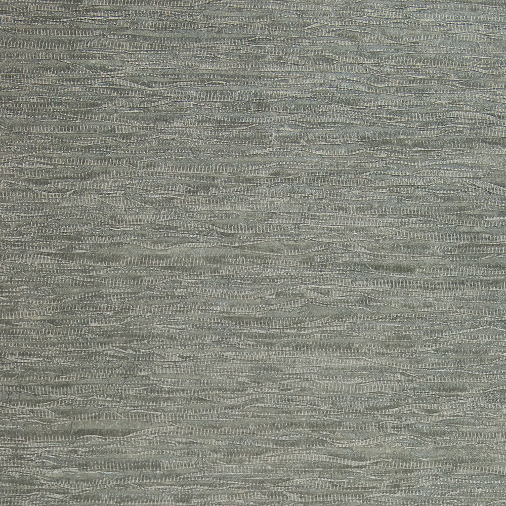 Running Ribbon Metallic Blue and Grey Grasscloth Wallpaper R4644