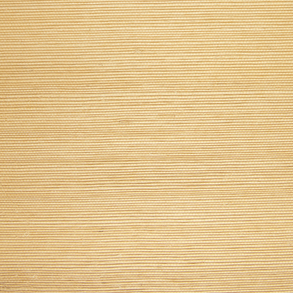 Fine Weave Yellow and Cream Grasscloth Wallpaper R4603