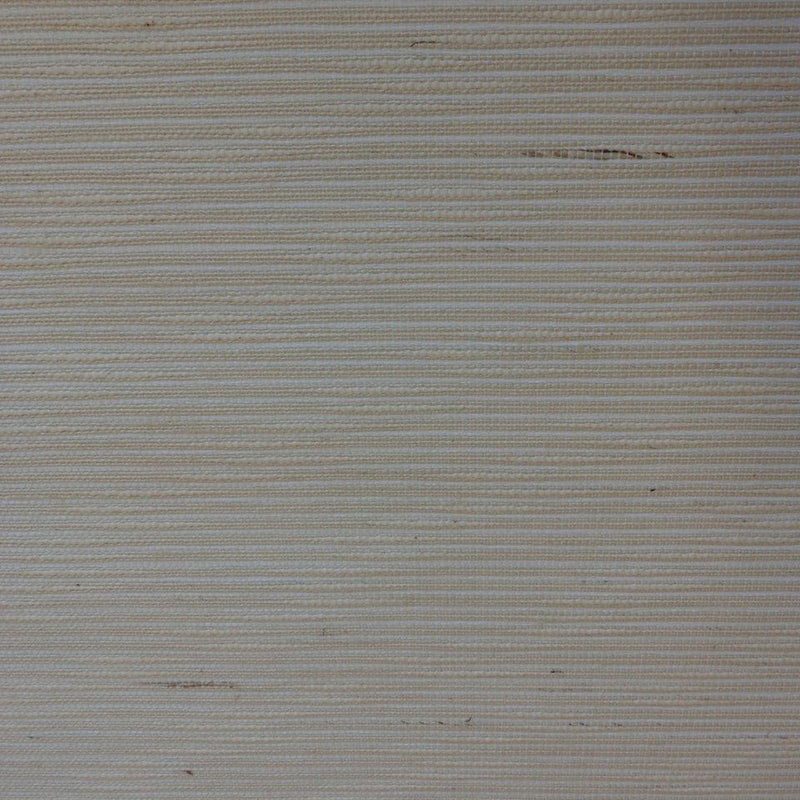 Striped Cotton White and Beige Grasscloth Wallpaper R4607