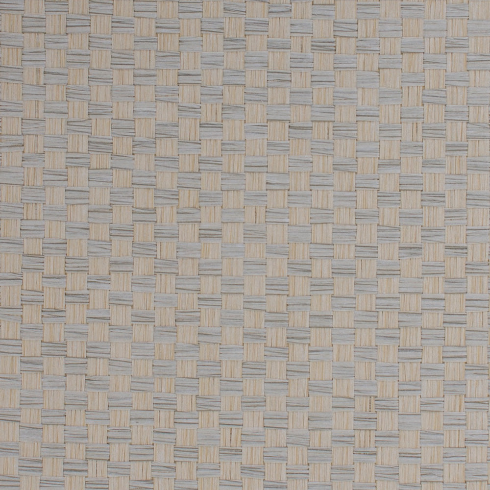 Checkerboard White and Yellow Grasscloth Wallpaper R4630